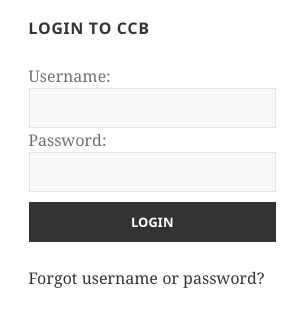 CCB Login Widget